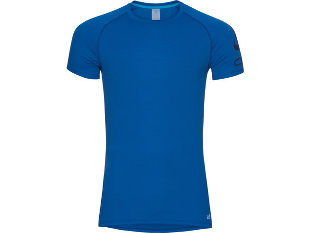 Odlo Active F-Dry Light Logo Crew Neck SS Shirt Men energy blue